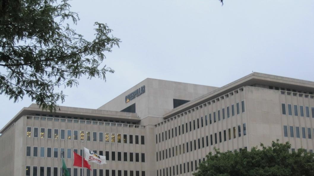 Caterpillars nåværende verdenshovedkvarter i Peoria, Illinois, USA. I 2017 forlater toppledelsen Peoria , August 2009.