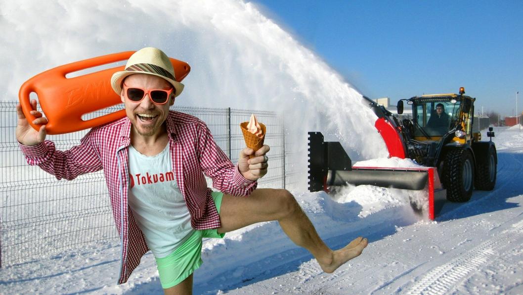 Nå står veivedlikehold både sommer og vinter på programmet for Tokvam AS. Fotomontasje: Tokvam