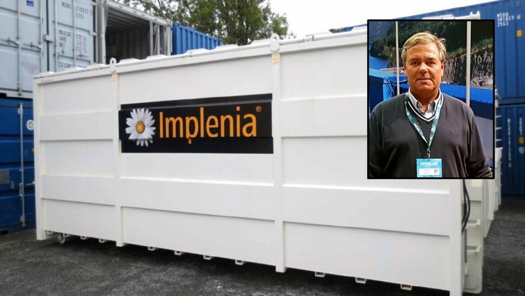 Daglig leder i Containertech, Trond-Aage Krosby (innfelt), melder om fornøyde brukere på Implenias anlegg på E134 i Kongsberg.