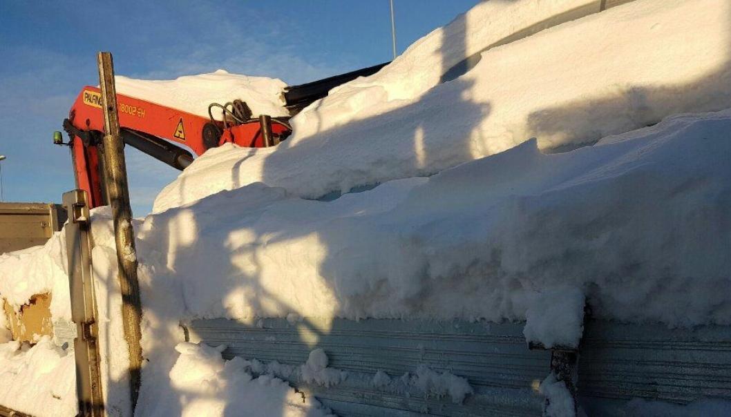 Det var ett tonn snø på dette kjøretøyet.