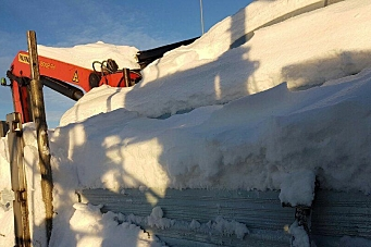 Fikk overlastgebyr - blant annet for ett tonn snø