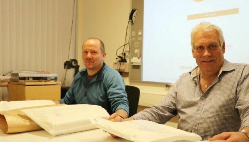 Bjørn-Erik Storstein og Johan Olav Haugen var fornøyd med at så mange entreprenører hadde gitt et bud på deres områder.