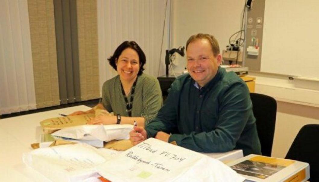 Prosjektleder Janne Venes og byggeleder Ole Gunnar Sølberg er fornøyde med å ha fått ni tilbud på jobben.