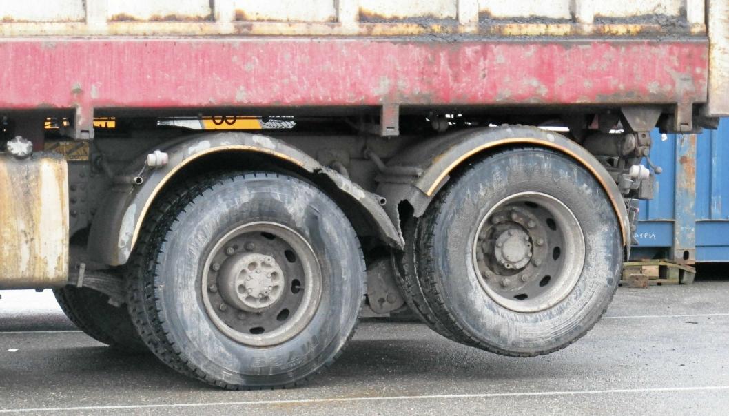 Illustrasjonsbilde. Det var ikke denne lastebilen som ble stoppet på Sandmoen.