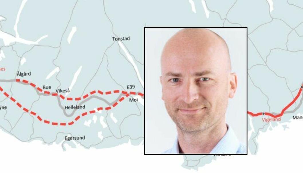 Asbjørn Heieraas er konstituert prosjektdirektør for E39 i Nye Veier AS fra 1. januar 2017.