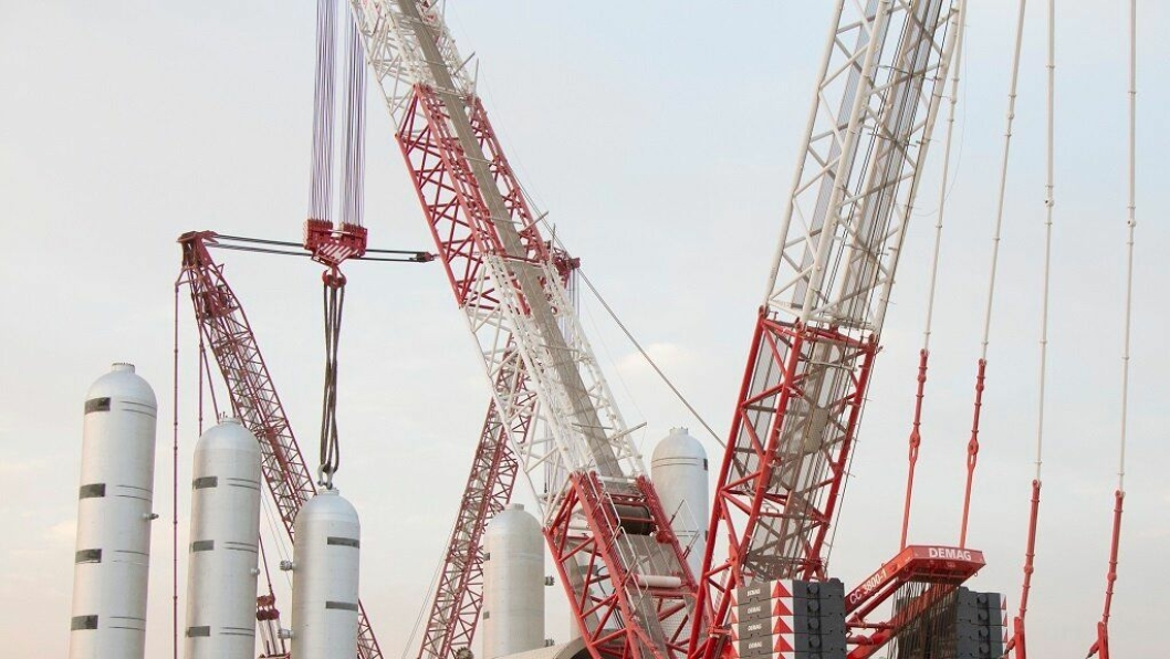650-tonneren Demag CC3800-1 på belter skal avløse en kran i 750-tonns segmentet og er blant nyinvesteringene til Integrated Logistics Company.