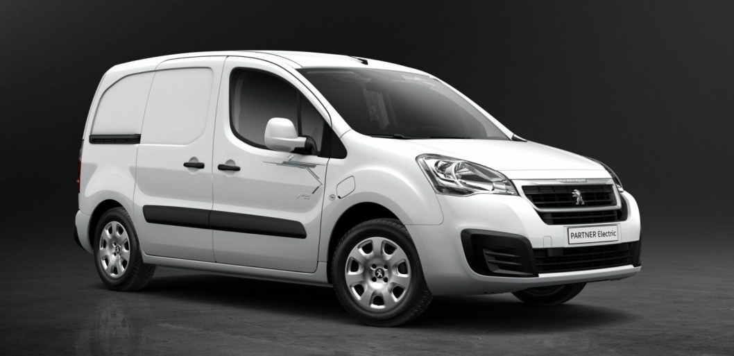 Elektrisk Peugeot Partner.