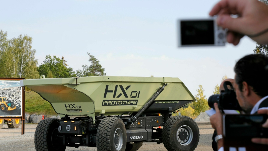 VCE er tildelt årets svenske innovasjonspris for sin selvkjørende el-dumper HX1.