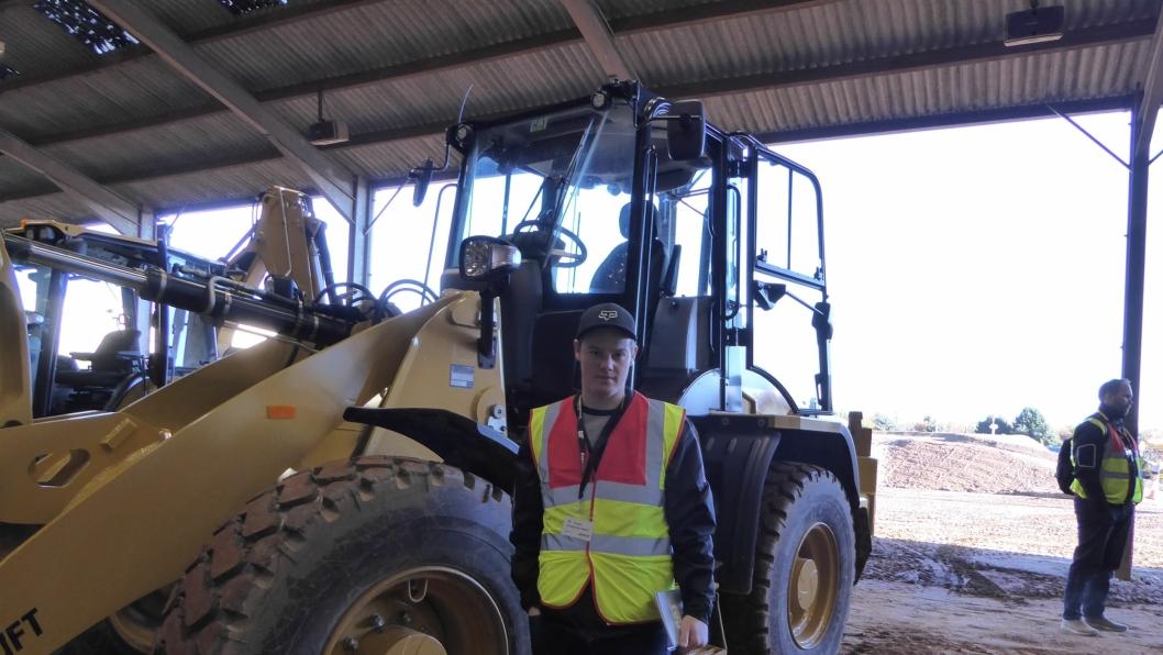 Petter Steen på fabrikkbesøk ved Caterpillar Visitor & Training Center (VTS) i Leicester, England.