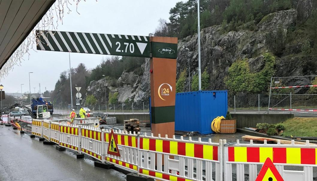 Roger Mjåtveit AS imponerte McDonald's og vant viktig kontrakt med restaurantkjempen. Nå er de i gang med å bygge Norges største drive-thru - i Rådalen i Bergen.