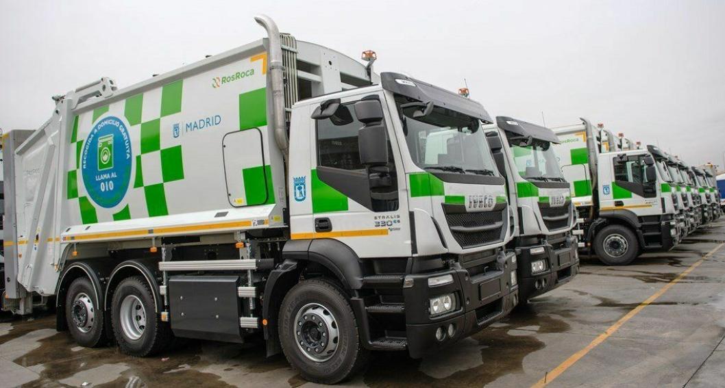 Madrid har anskaffet 109 Iveco Stralis med motorer for komprimert naturgass til byrenovasjon.