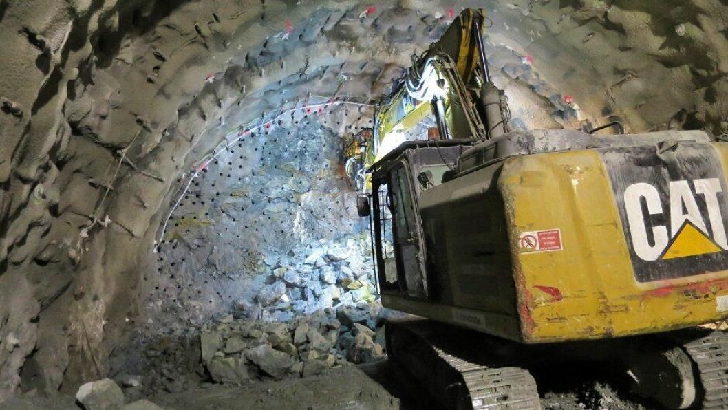 Illustrasjonsbilde fra Condottes arbeid med tunneldriving nord i Ekebergåsen. . Foto: Bane Nor