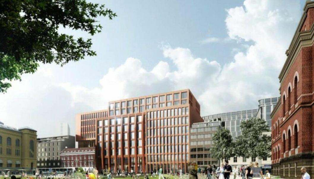 Nytt universitetsbygg ved Det juridiske fakultet ved Tullinløkka i Oslo sentrum.