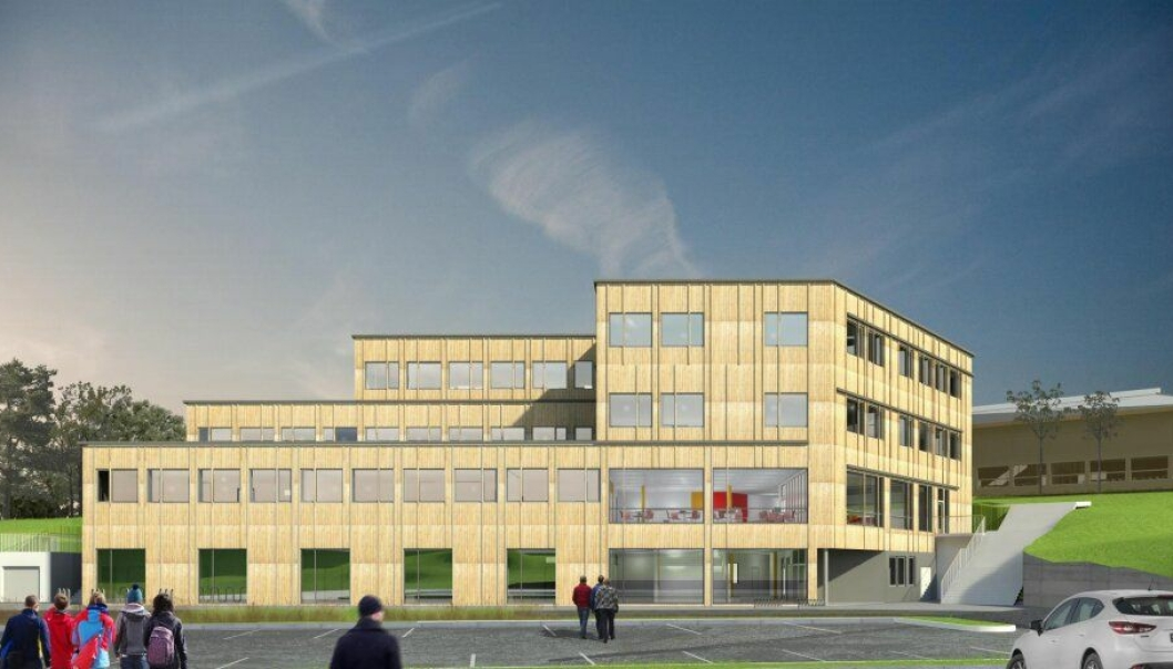 Tveit skole på Askøy utenfor Bergen.
