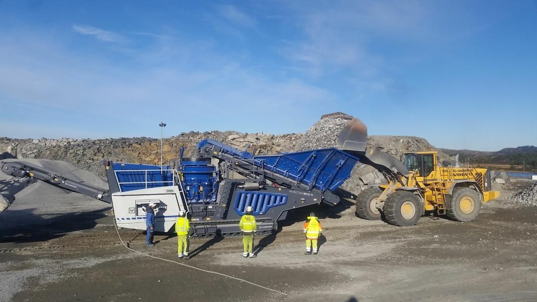 Kleemann-knuseren MCO 11 Pro på 48 tonn skal testes av Vassbakk & Stol frem mot jul.