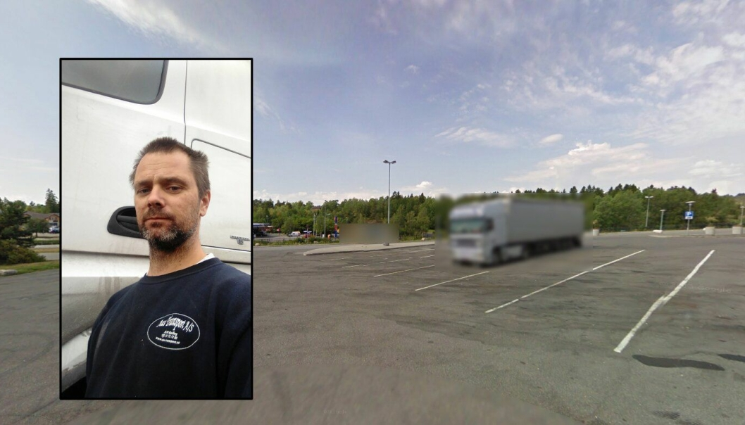 Ved E6 Storebaug retning nord, ble Trond Sørensen tilbudt amfetamin av en utenlandsk kollega. De sladdede vogntogene på bildet har ikke noe med saken å gjøre.