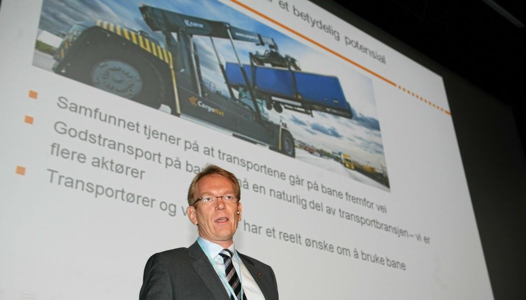 - Streiken innebærer en vanskelig situasjon både for oss og våre kunder, sier Cargonets Arne Fosen.