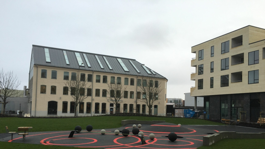 Lokalsenteret og kvartalslek i prosjektet 5 ° Øst i Stavanger.