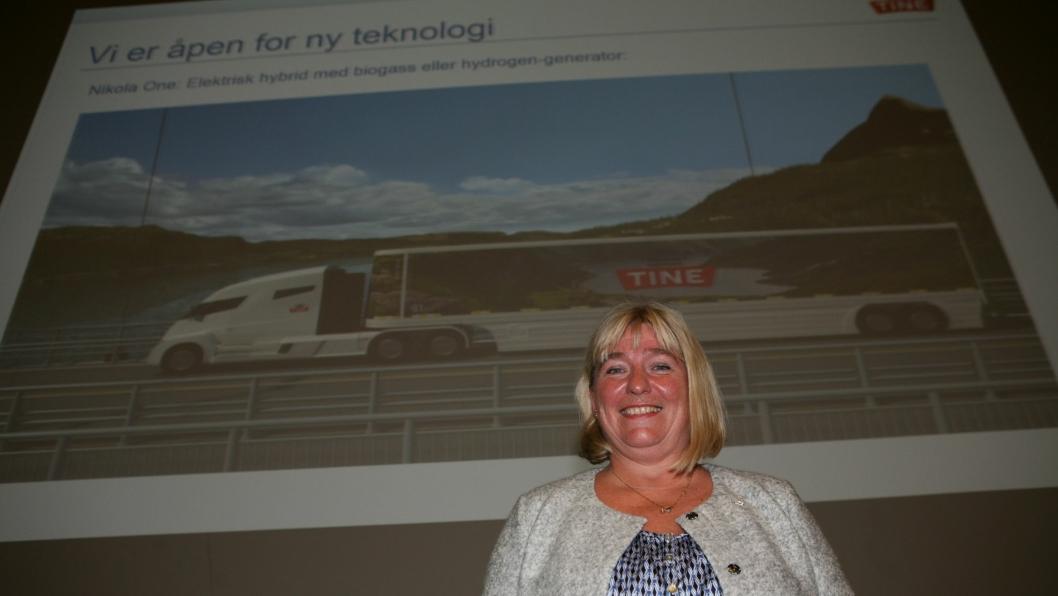 Tines Ann-Norill Stennes har sendt søknad til samferdselsministeren om å få utvide veikapasiteten med 24 nye veistrekninger for modulvogntog, blant for hybridlastebilen Nikola One.