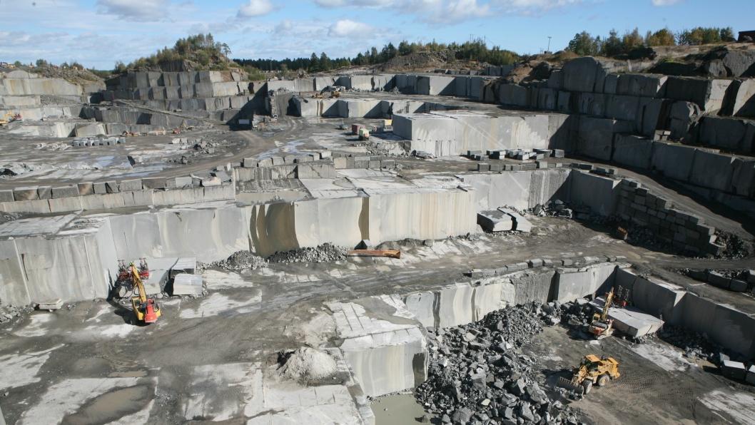 Illustrasjonsbilde. Bilde tatt i 2012 ved ett av Lundhs steinbrudd.