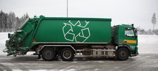 Avfallsbil avskiltet