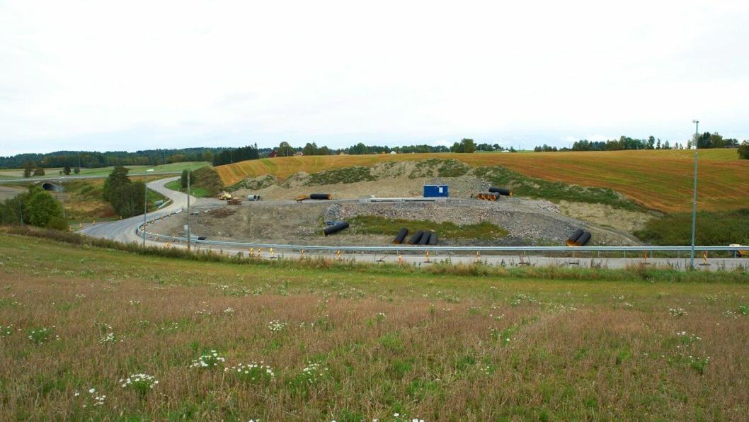 Feiring Bruks helt nye massemottak på Rogndalsbekken, langs fylkesvei 450.