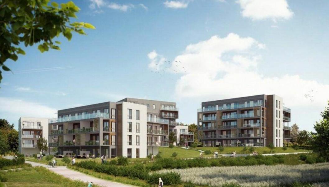 Kilen Bolig med 79 leiligheter rett ved sjøen i Tønsberg er klart for bygging.