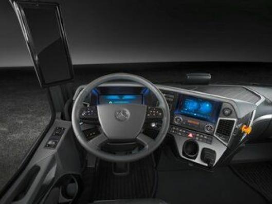 Urban eTruck viser et klart slektskap til både Mercedes-Benz Antos og Future Truck 2025.
