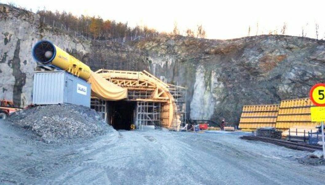 Onsdag den 21. september går siste salve i tunnelen gjennom Sørkjosfjellet.