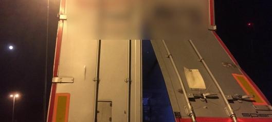 Sjekket ikke lasten: Mistet fem tonn på E6