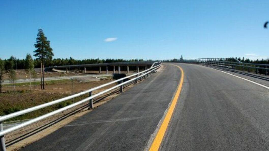 Den nye rampen fra E16 og til E6 i nordgående retning ved Jessheim nord åpner for trafikk natt til torsdag 15. september.