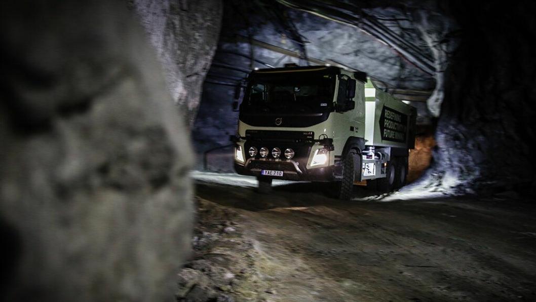 Selvkjørende Volvo FMX skal i ett og et halvt år gå i test i Bolidens gruve i Kristineberg i Sverige.