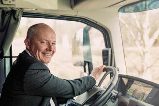 Claes Nilsson, sjef for Volvo Trucks, mener gruvetesten er viktig for videre utvikling av autonome kjøretøy.