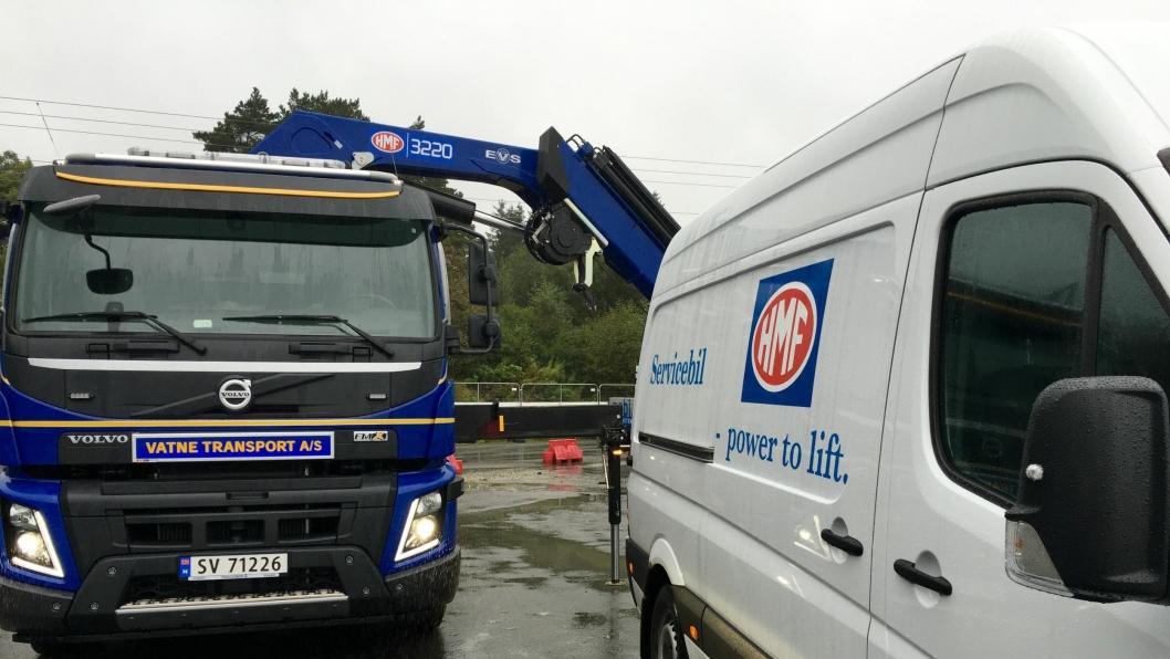 Ny HMF-servicebil på plass i Bergens-området.