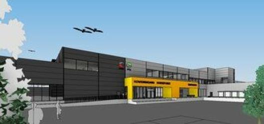 En skisse av Posten og Brings logistikksenter i Sandnes.