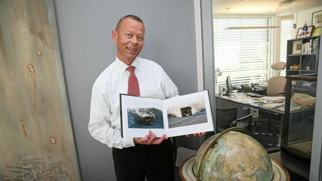Styreleder Peter Steiness Larsen i Tschudi-eide Sydvaranger AS vil teste produksjonslinjen for jernmalmen de kommende månedene.