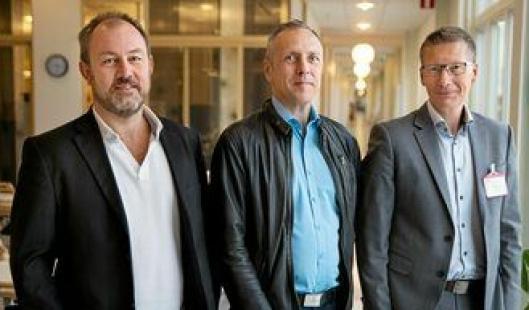 Fra venstre; Logistics Manager Jula Lennart Karlsson, Customs & Freight Manager Jula Pietro Montebov, og Managing Director Collicare Gothenburg Magnus Yverås.