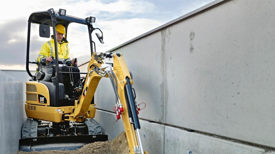 Cat 301.7D CR som produseres av Wacker Neuson for Caterpillar, er en av minigraverne som skal fases ut i 2018. Samtidig skal Caterpillar produsere sine minigravere selv.