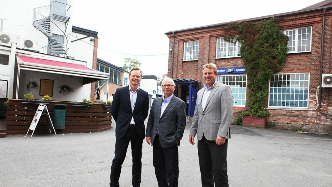 Fra venstre: Anders Mørland (DTZ), Arild Brath (Progress Ingeniørfirma), Henning Hanevold (Peab Eiendomsutvikling).