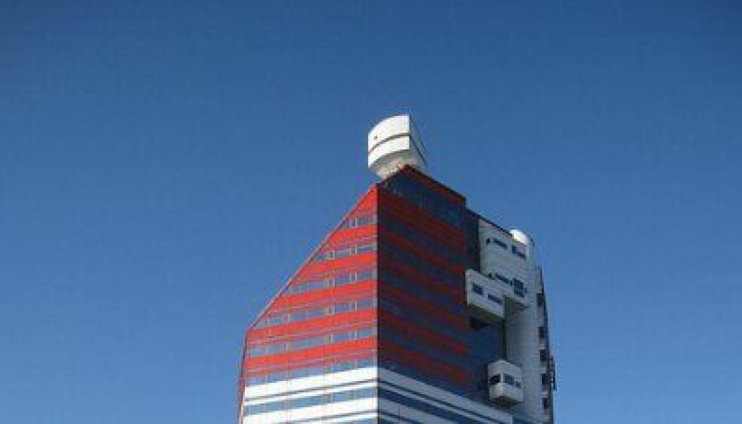 GÖTEBORG: Kontorbygget Lilla Bommen, på folkemunne omtalt som «Läppstiftet» (leppestiften) moderniseres av Veidekke.
