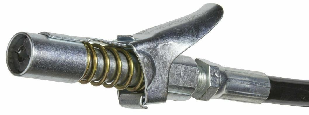 Bildet viser lukkemekanismen i munnstykket.