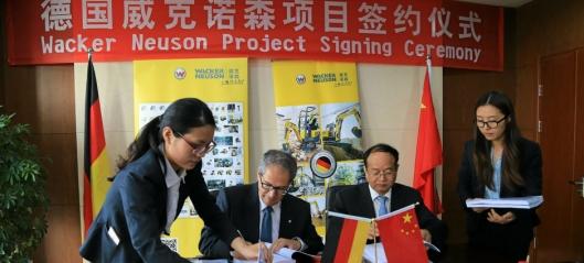 Wacker Neuson bygger i Kina