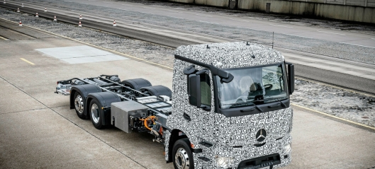 26 tonns elektrisk Mercedes-lastebil