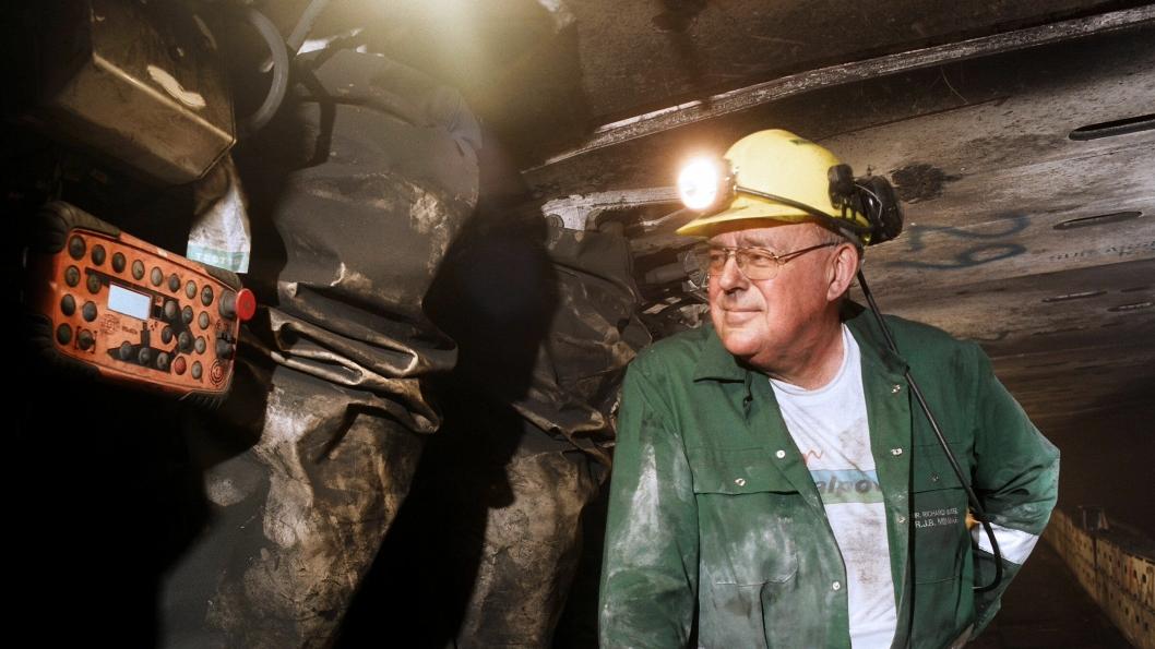 UNDER JORD: Richard John Budge er knyttet til kull-historien i Storbritannia, og vil bli minnet etter at man nylig gikk bort.
