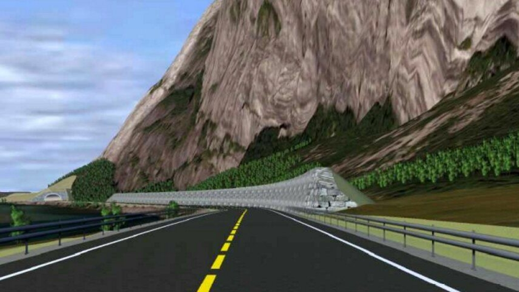 Ved Dølsteinfonna skal det bygges en voll som er 6 meter høyere enn veibanen.
