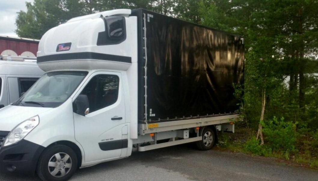Polsk varebil med 250 kg overlast.