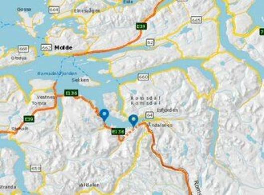 Innfjordtunnelen og Måndalstunnelen på E136 ved Åndalsnes i Møre og Romsdal skal oppgraderes.