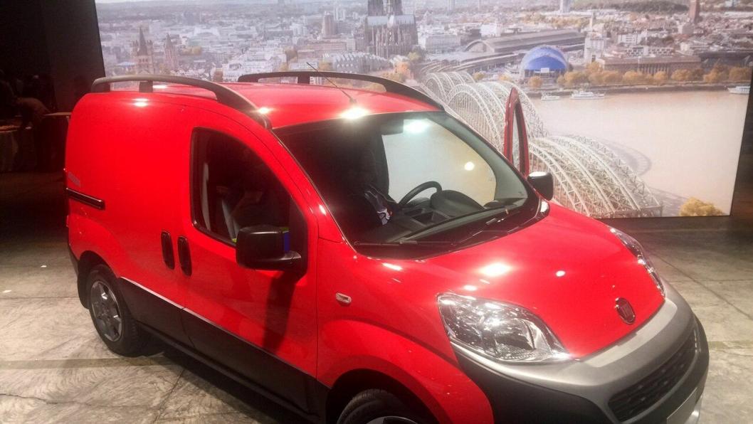 Nye Fiat Fiorino er ikke stor nok innvendig til å kunne registreres som varebil.