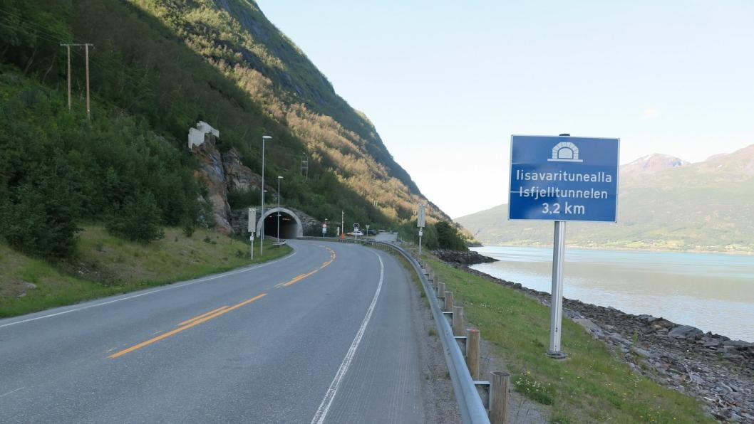 Isfjelltunnelen er en av seks tunneler som skal oppgraderes. Se listen nederst i artikkelen.