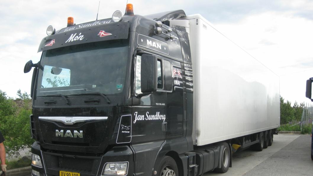 Den nederlandske sjåføren i dette danske vogntoget kjørte på en annens sjåførkort 9. juni ved Jessheim.